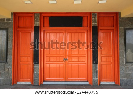 Red chinese traditional doorway