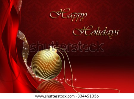 Red Christmas Background.  - stock photo