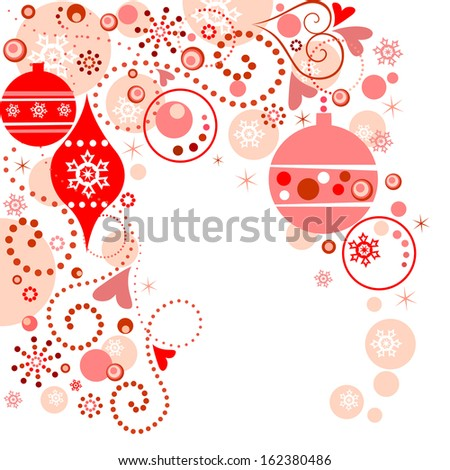 Red christmas background. Raster copy - stock photo