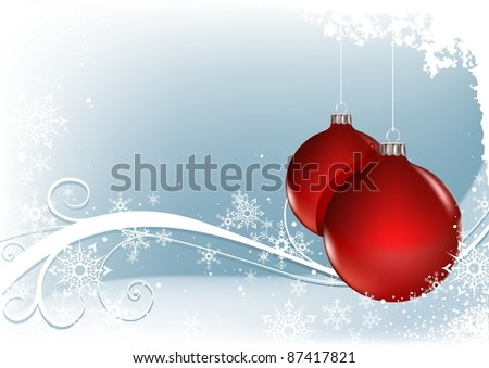 Red Christmas Balls - colored abstract illustration