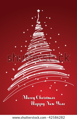 red christmas card background, raster version