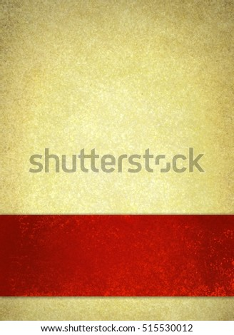 Red Christmas Ribbon On Vintage Off Stock Illustration 515530012 ...