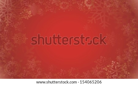 Red christmas snowflake background - stock photo