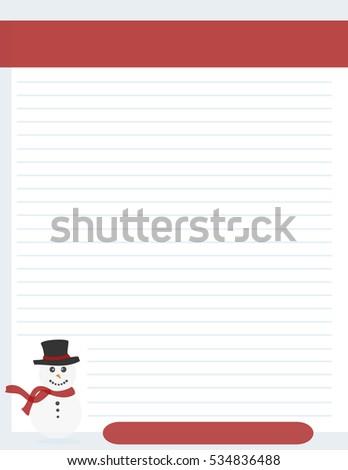 christmas letterhead samples