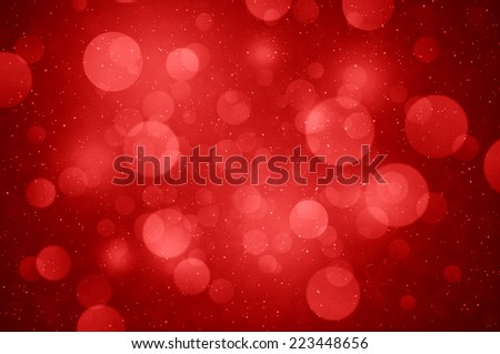 Red Christmas tree background - stock photo