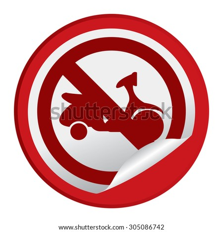 stock photo orange circle entry prohibited sign infographics sticker icon label isolated