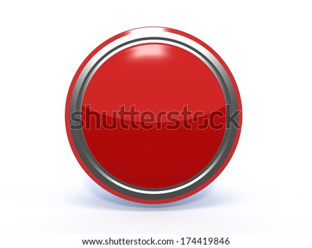 Red Circular button on white background