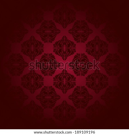 Red classic seamless pattern.
