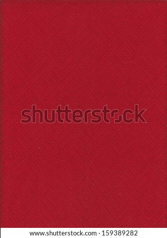 Red cloth with rhombus ornament - stock photo