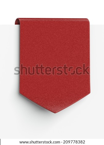 Red clothing label  - stock photo