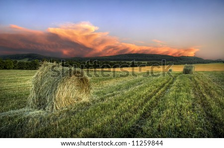 Red cloud evening - stock photo