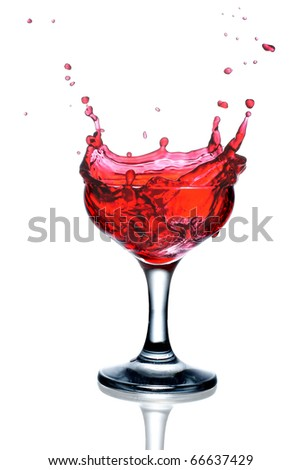 Red cocktail with splash