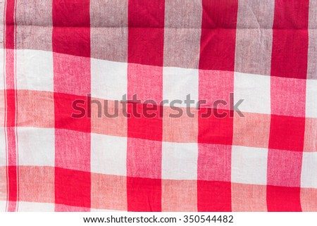 red color loincloth fabric background Thai style