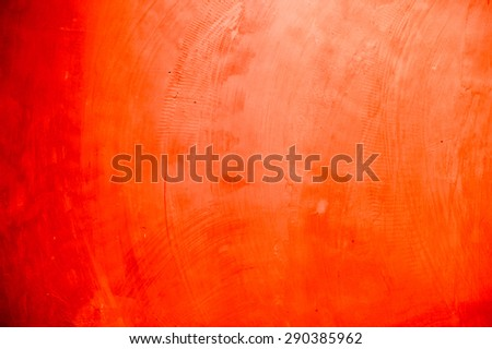 red concrete interior - stock photo