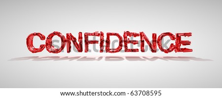 Red confidence word destruction over grey background - stock photo