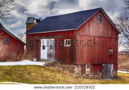 Red Country Barn - stock photo