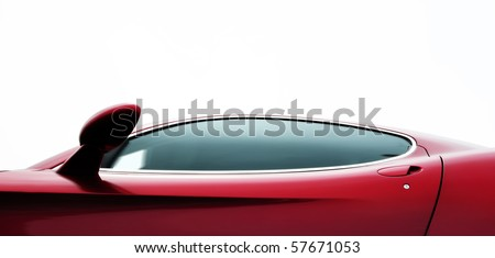 Red coupe - stock photo
