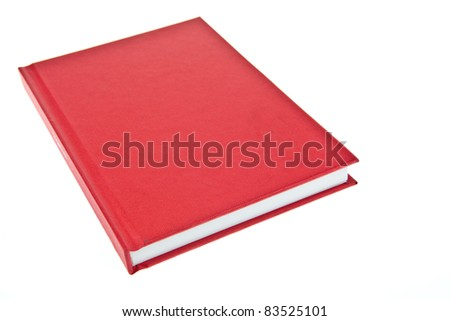 Red cover book - stock photo