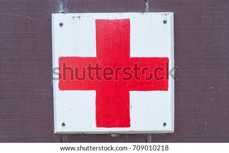 Red Cross Medical Symbol Sign Stock Photo Edit Now 709010218