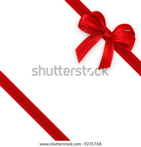 red cross ribbon and bow - stock photo