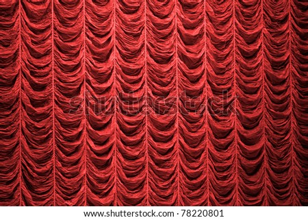 Red curtain background texture - stock photo