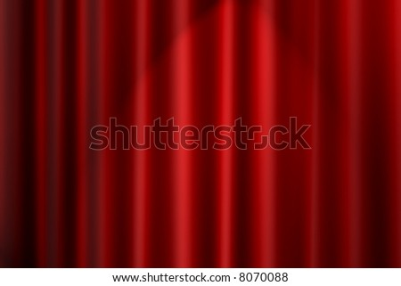 Red Curtain Background with dramatic lighting - stock photo
