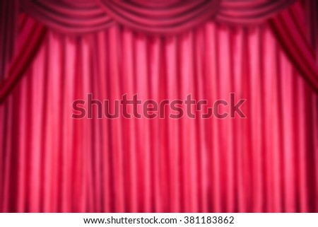 red curtain blurred background - stock photo
