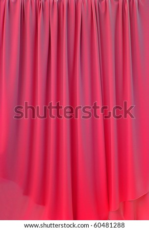 red curtain fabric background texture - stock photo