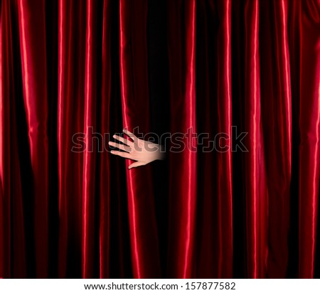 Red curtain fade to dark