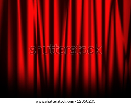 Red curtain of stage