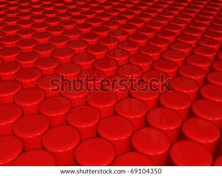 Red cylinders background