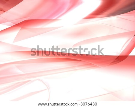 Red 3D Abstract - stock photo