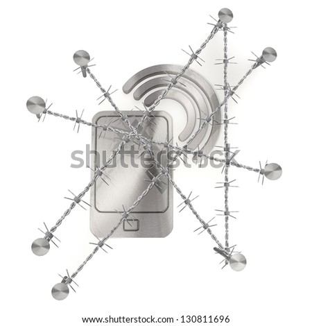 Red  3d graphic with e-mail icon - stock photo