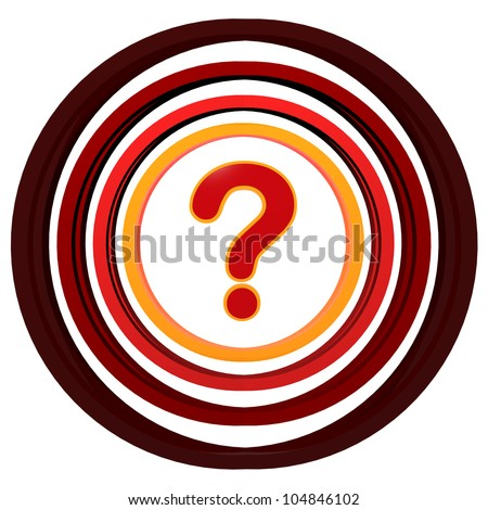 red 3d question sign with colorful circles - stock photo