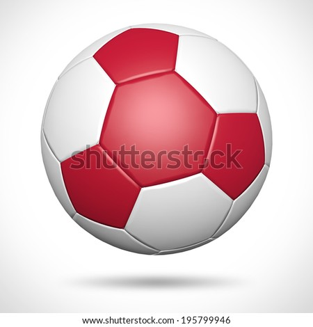 Red 3D soccer ball