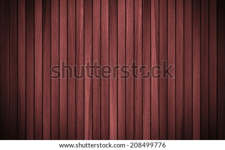 Red dark natural wood. Vertical tiles natural pattern. Shadow and vignette.  Can be used for wallpaper, pattern fills, web page background,surface textures, textiles, for book design.  - stock photo