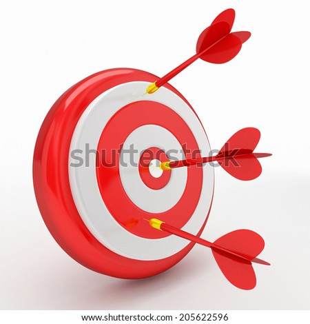 red darts on red target