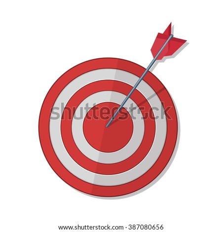 Red darts target aim. Successful shoot. - stock photo