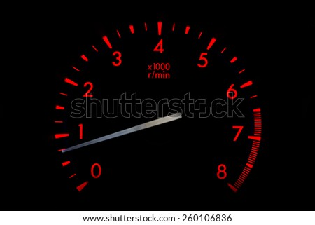 red dashboard - stock photo