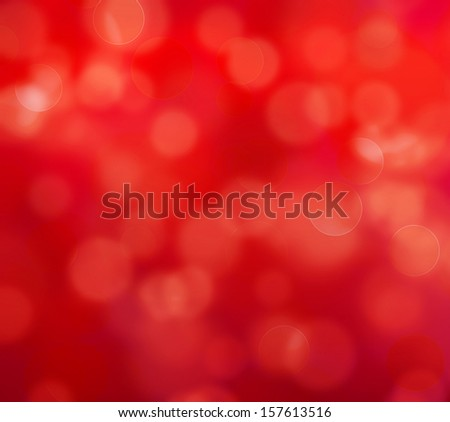 red defocused lights background - stock photo
