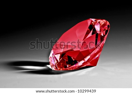 Red diamond close-up