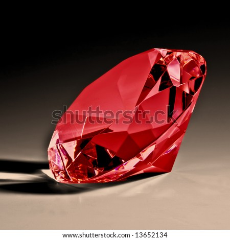 Red diamond close-up 2