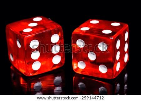 red dice - stock photo