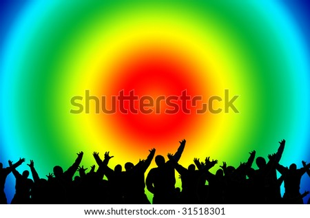 Red Disco Party - stock photo