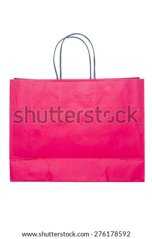 Red disposable paper bag  - stock photo