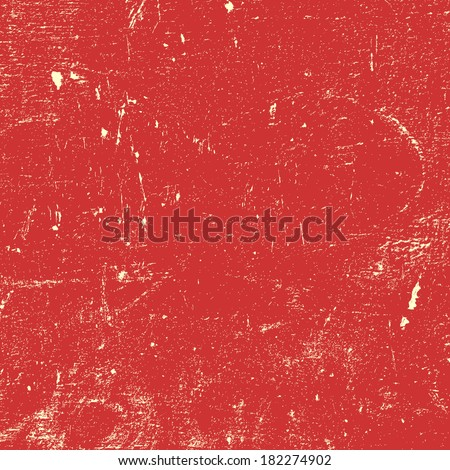 Red Distressed Paint Texture for your design. - stock photo