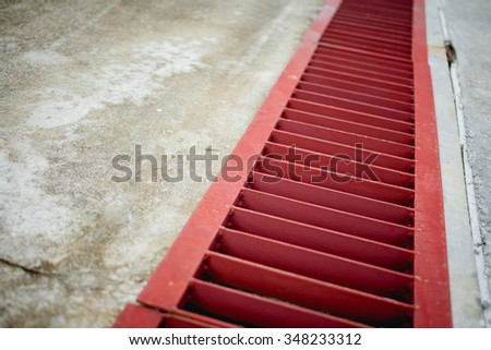 red ditch - stock photo