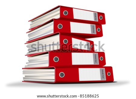 Red document file for company - stock photo