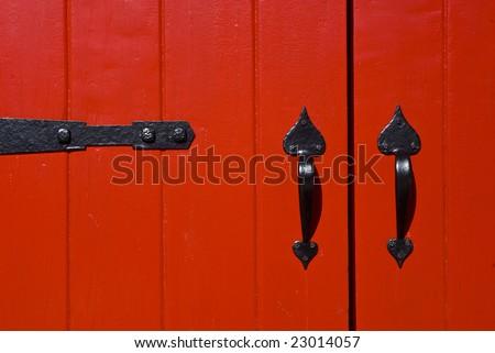 red doors - stock photo