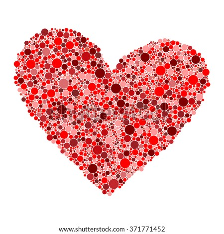 red dots heart